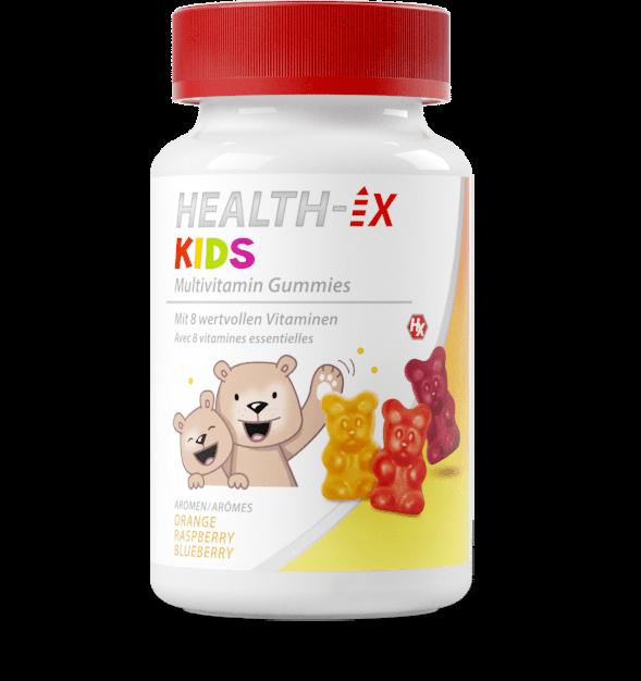 Product packaging of the Health-iX Multivitamin Gummies KIDS